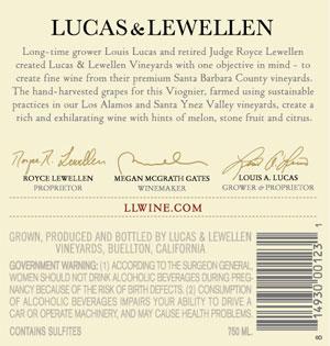 2015 Lucas & Lewellen Viognier