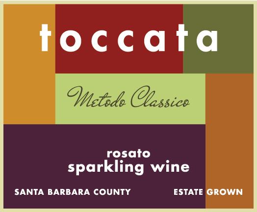 Toccata Sparkling Rosato front label
