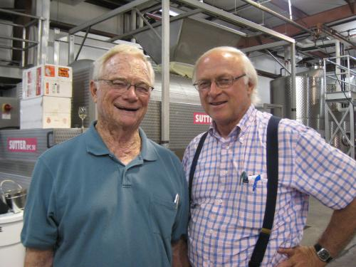 Royce Lewellen and Louis Lucas in 2008 at the winery