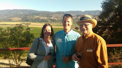 Royce Lewellen with friends at L&L's Summer BBQ overlooking Valley View VIneyard