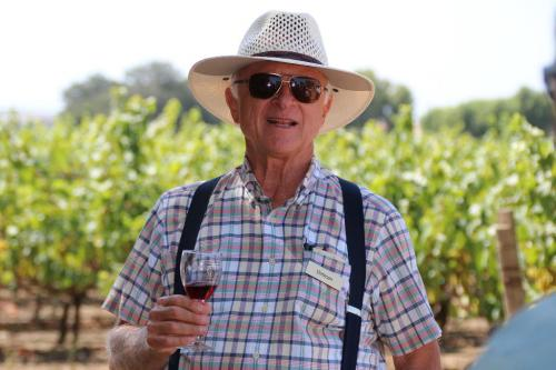 A photo of Louis Lucas in the vineyard