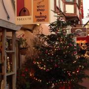 Toccata Tasting Room at Christmas
