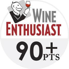 Wine Enthusiast logo - 90+ point wines
