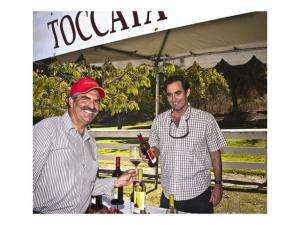 Mike Lewellen shares Toccata wines with John Palmintieri