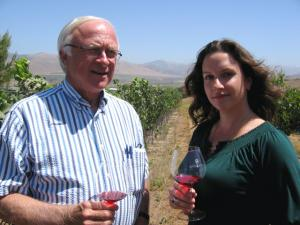 Grape grower Louis Lucas and Winemaker Megan McGrath Gates