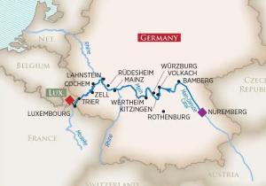 Map of 2021 Wine Cruise