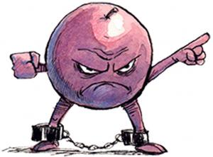 The cartoon logo of Free the Grapes