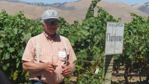 Louis Lucas at the Goodchild Vineyard in Los Alamos