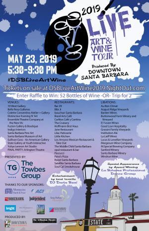 Santa Barbara downtown art & wine tour