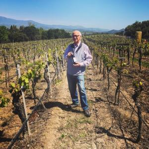 Louis Lucas standing at Valley View Vineyard