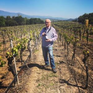 Louis Lucas standing at Valley View Vineyard