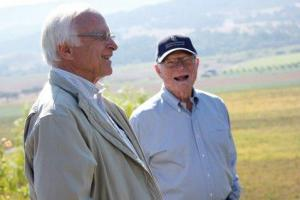 Louis and Royce at Valley View Vineyard