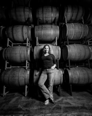 Winemaker Megan McGrath Gates in the winery