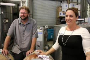 Lucas & Lewellen Winemaker Megan McGrath Gates and Assistant Ian Fainer
