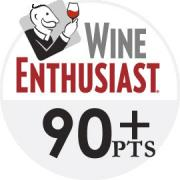 Wine Enthusiast logo - 90+ point wines